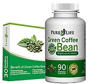 Pure life green coffee bean bluff